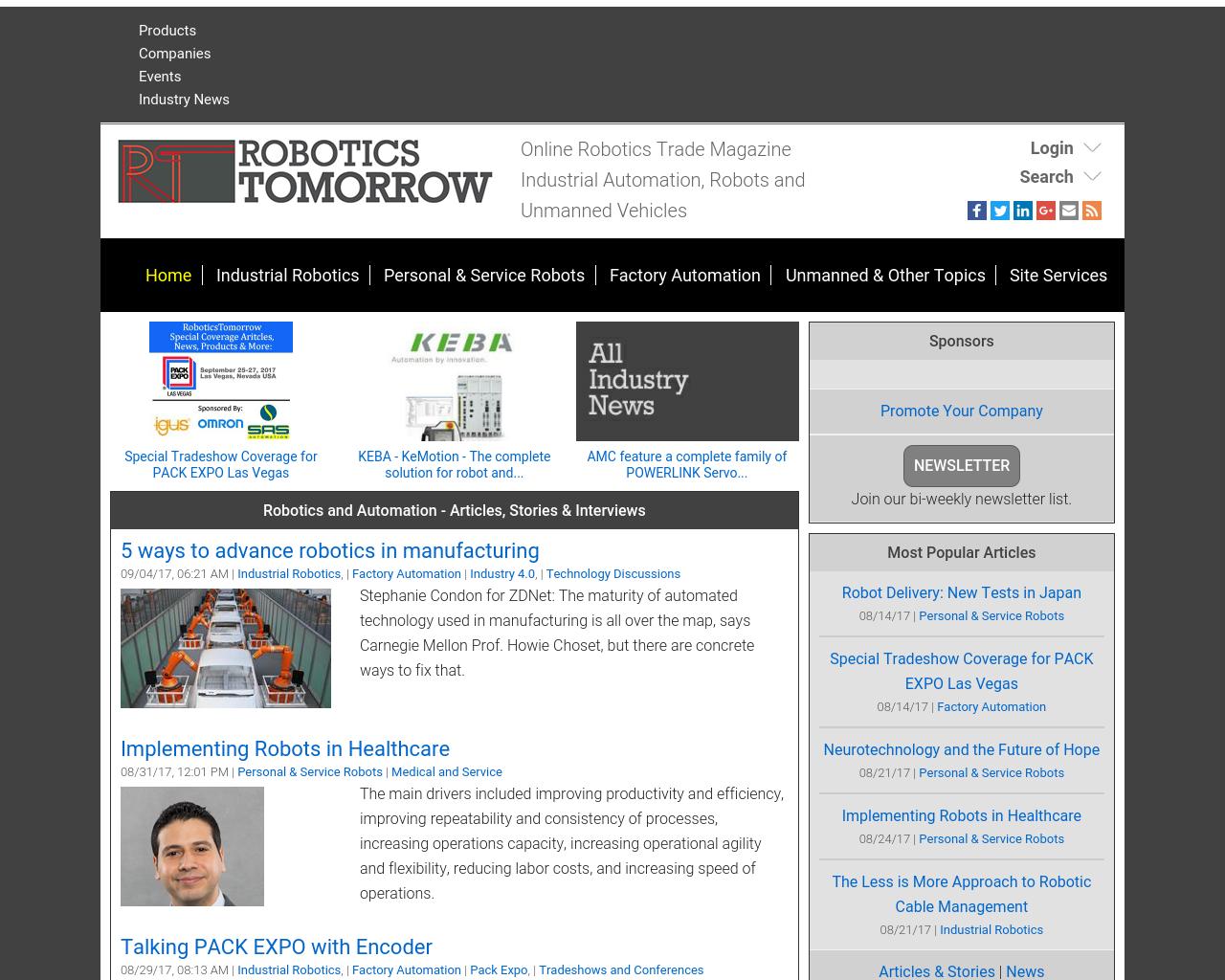 RoboticsTomorrow-Advertising-Reviews-Pricing