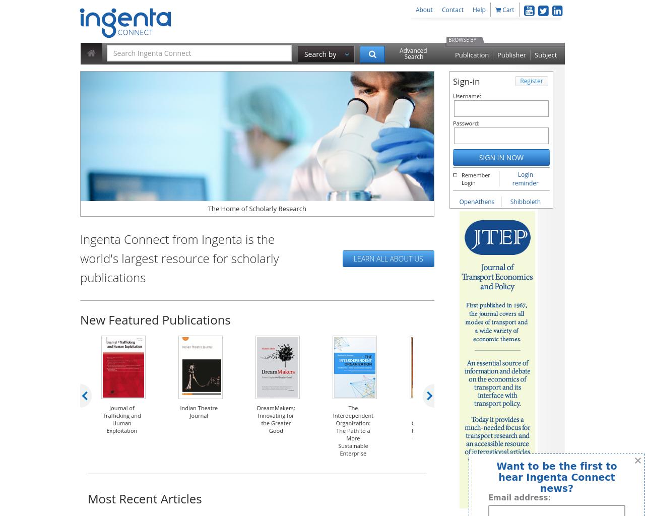 ingentaconnect-Advertising-Reviews-Pricing