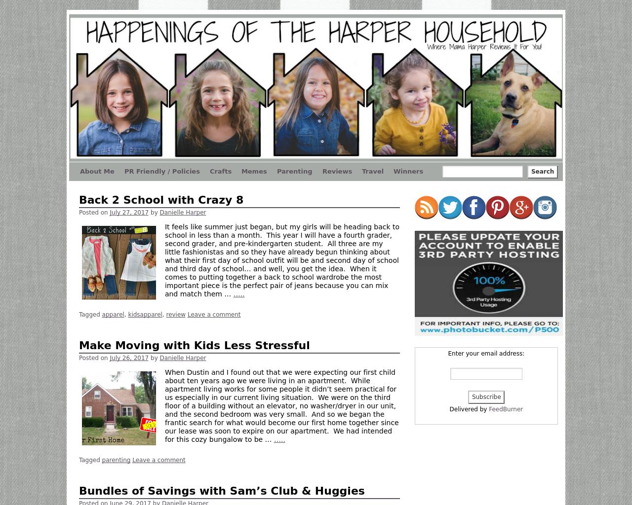 Happenings-Of-The-Harper-Household-Advertising-Reviews-Pricing