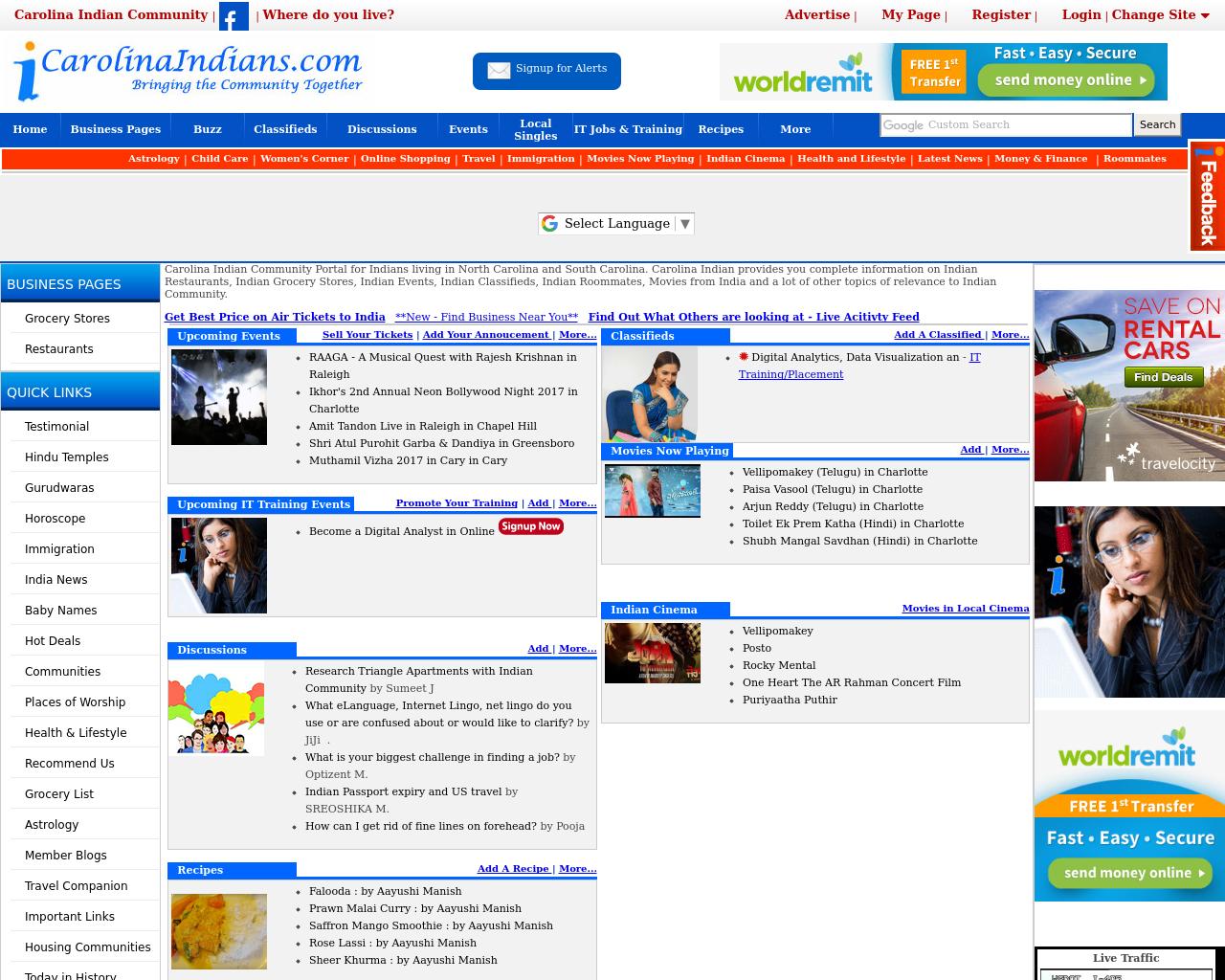 CarolinaIndians.com-Advertising-Reviews-Pricing