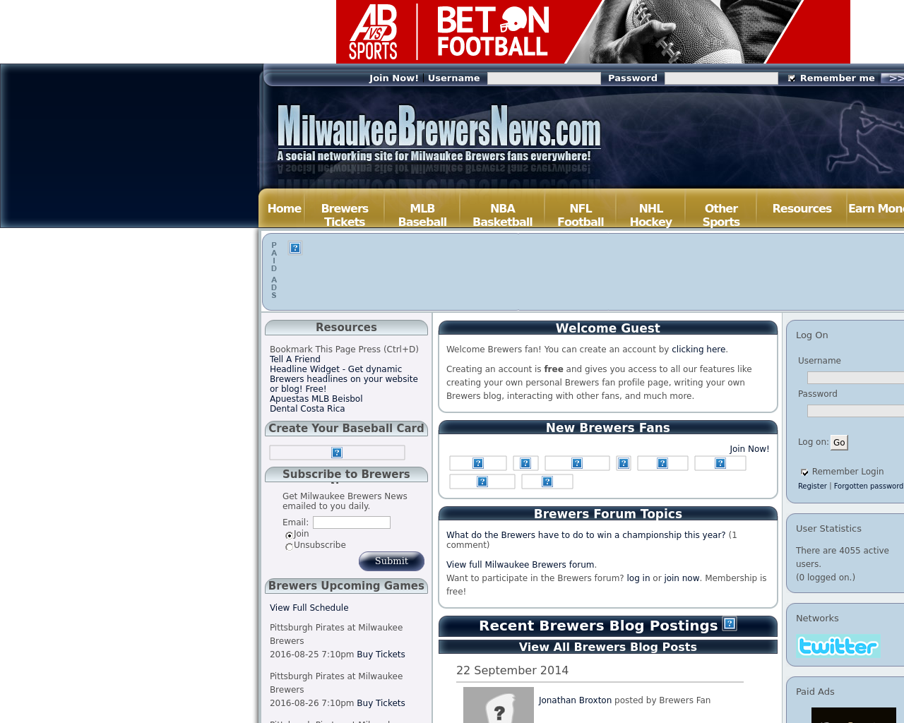 MilwaukeeBrewersNews.com-Advertising-Reviews-Pricing