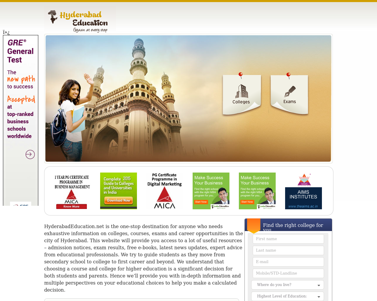 Hyderabad-Education-Advertising-Reviews-Pricing