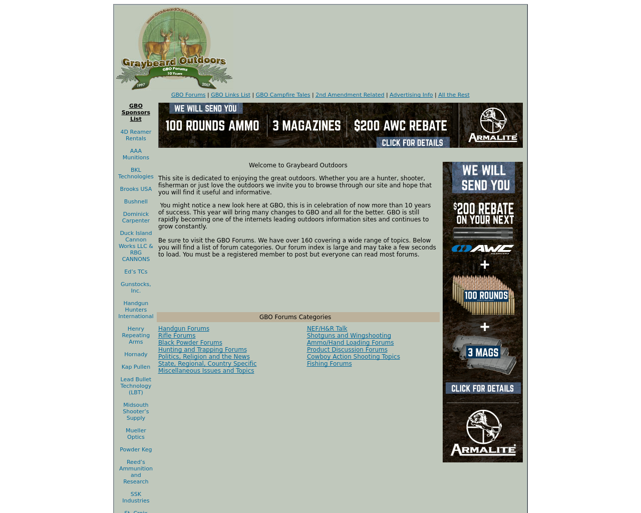 GraybeardOutdoors.com-Advertising-Reviews-Pricing