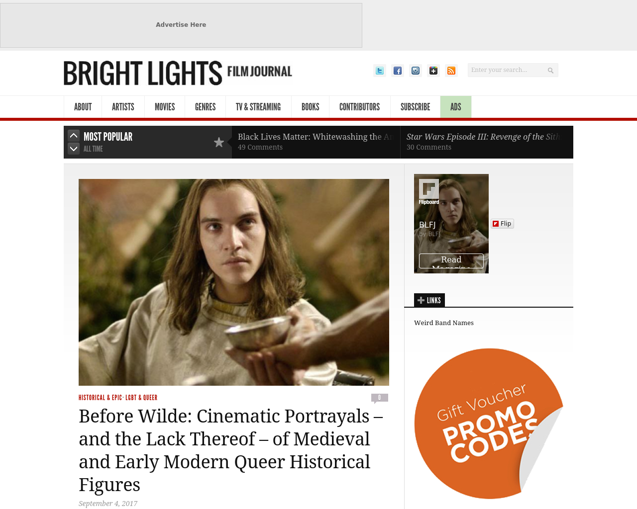 BRIGHT-LIGHTS-FILM-JOURNAL-Advertising-Reviews-Pricing