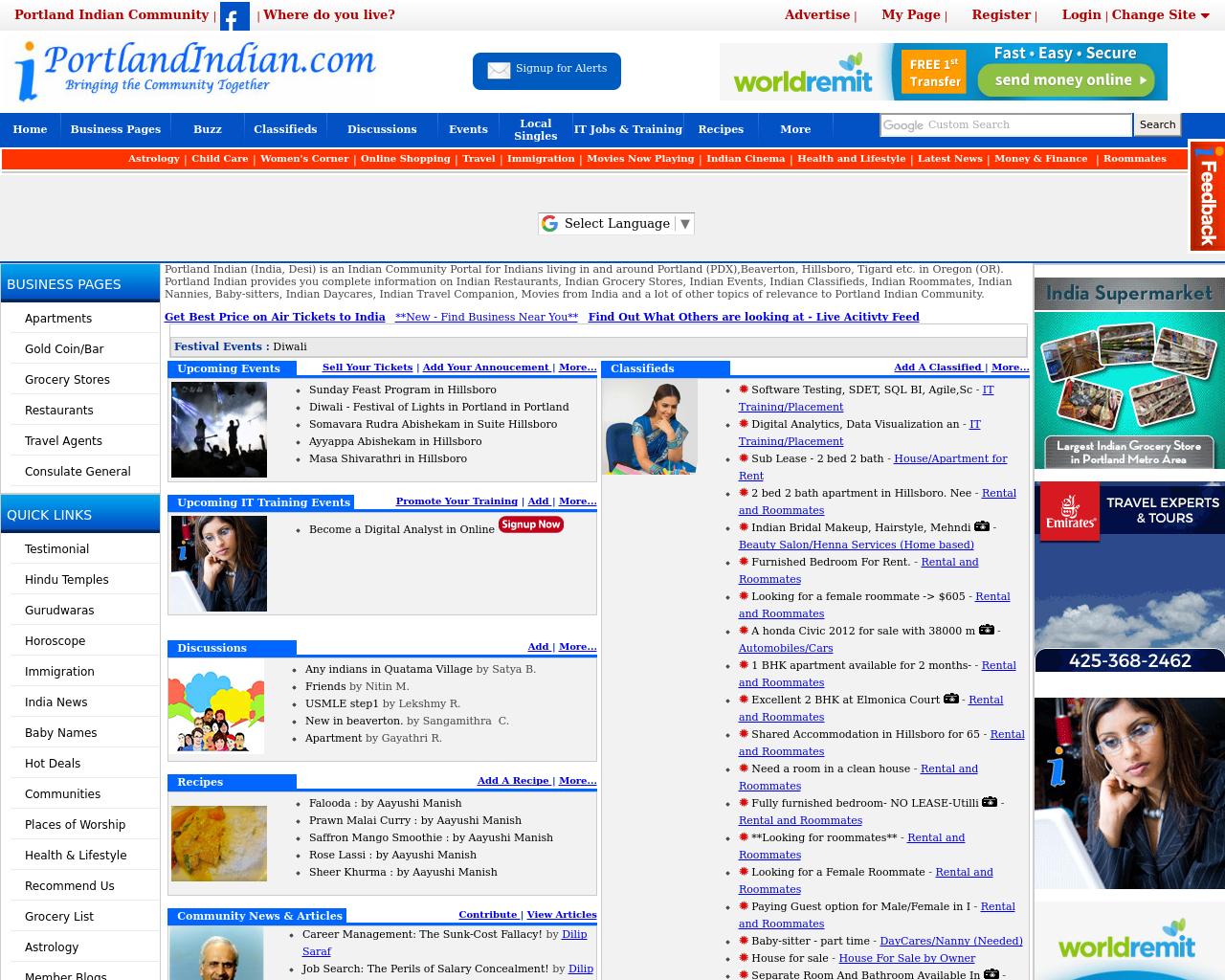 PortlandIndian.com-Advertising-Reviews-Pricing