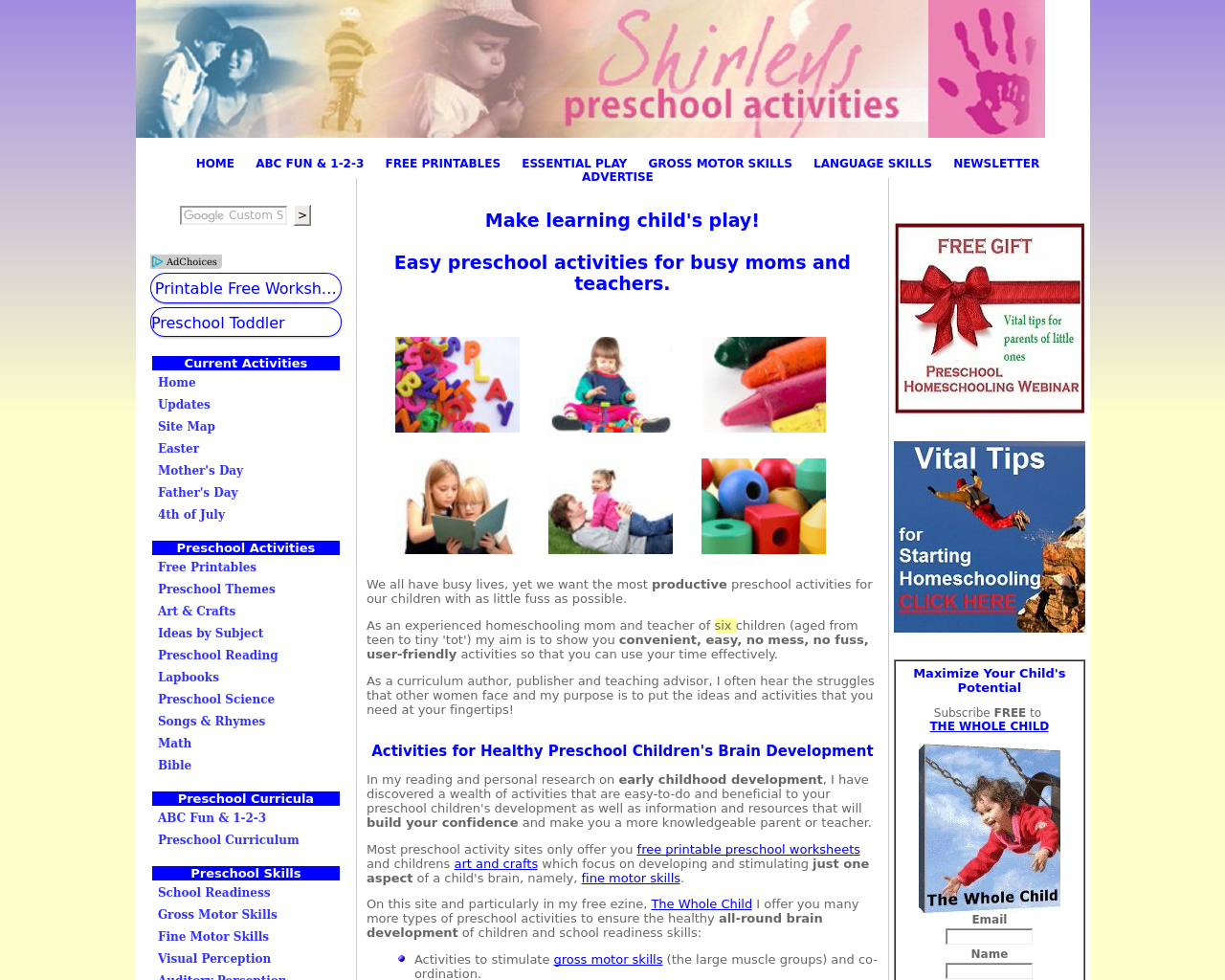 Shirleys-Preschool-Activities.com-Advertising-Reviews-Pricing