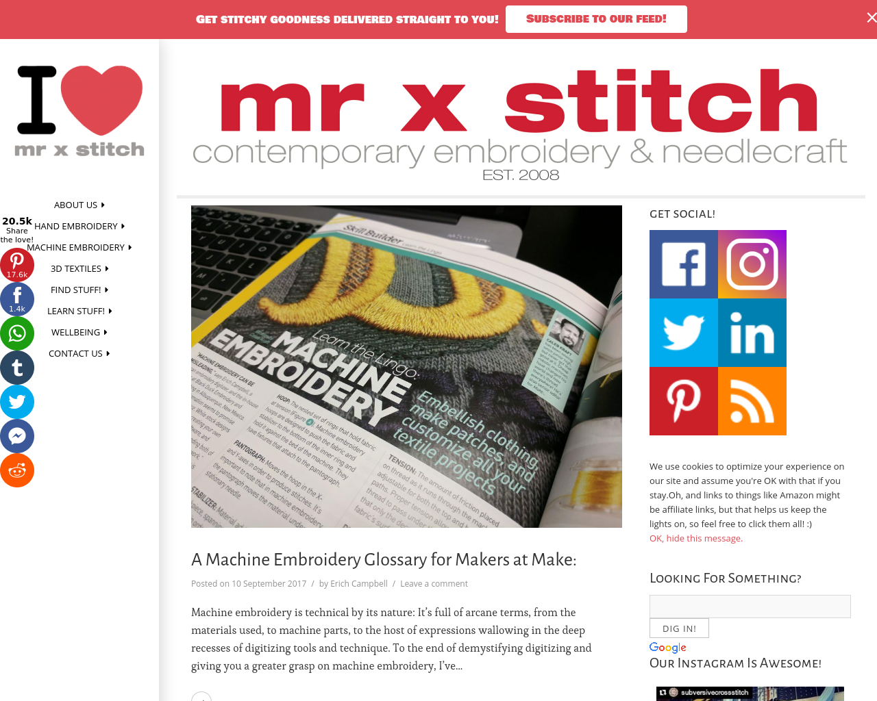 Mr-x-stitch-contemporary-embroidery-&-needdlecraft-Advertising-Reviews-Pricing