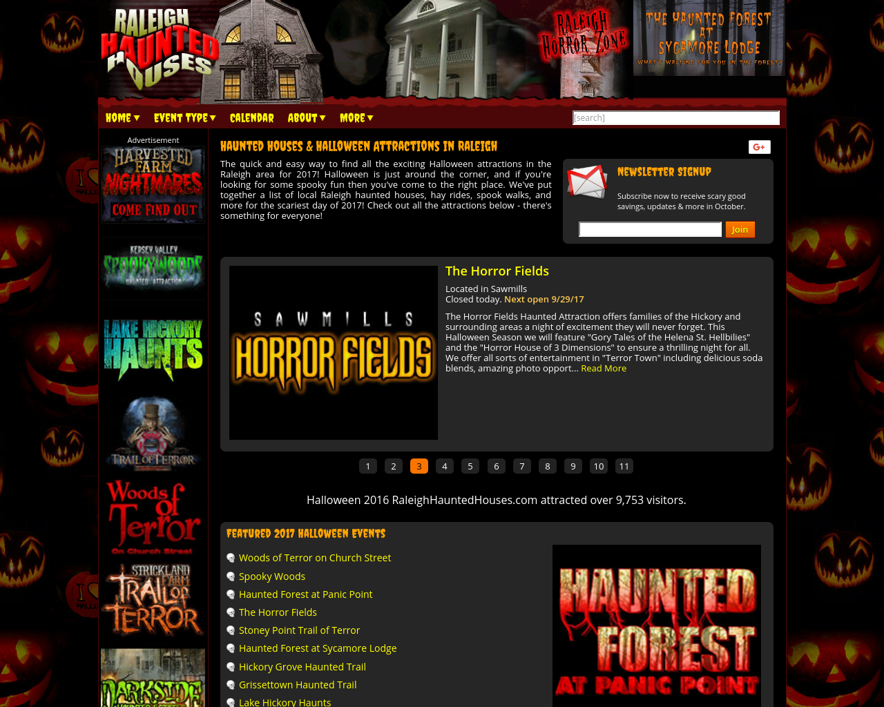 Raleighhauntedhouses.com-Advertising-Reviews-Pricing