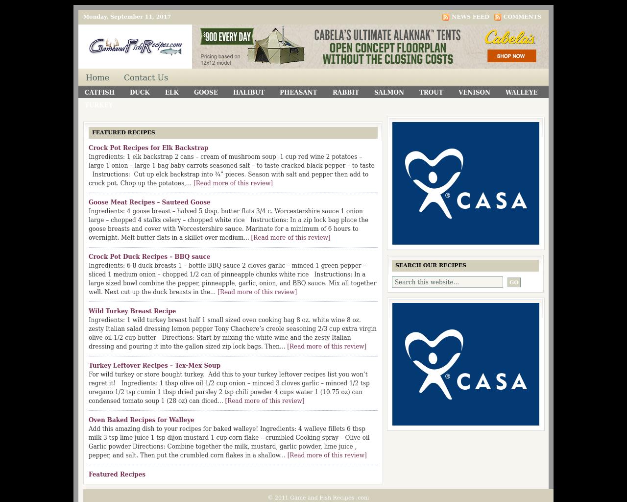 Gameandfishrecipes.com-Advertising-Reviews-Pricing