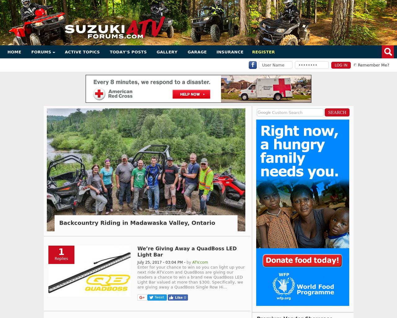 Suzuki-ATV-Forums-Advertising-Reviews-Pricing