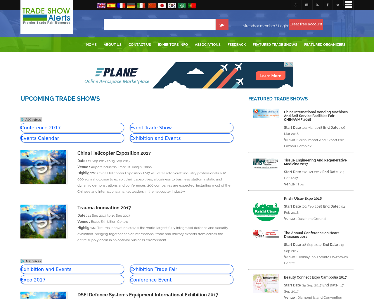 TRADE-SHOW-Alerts-Advertising-Reviews-Pricing