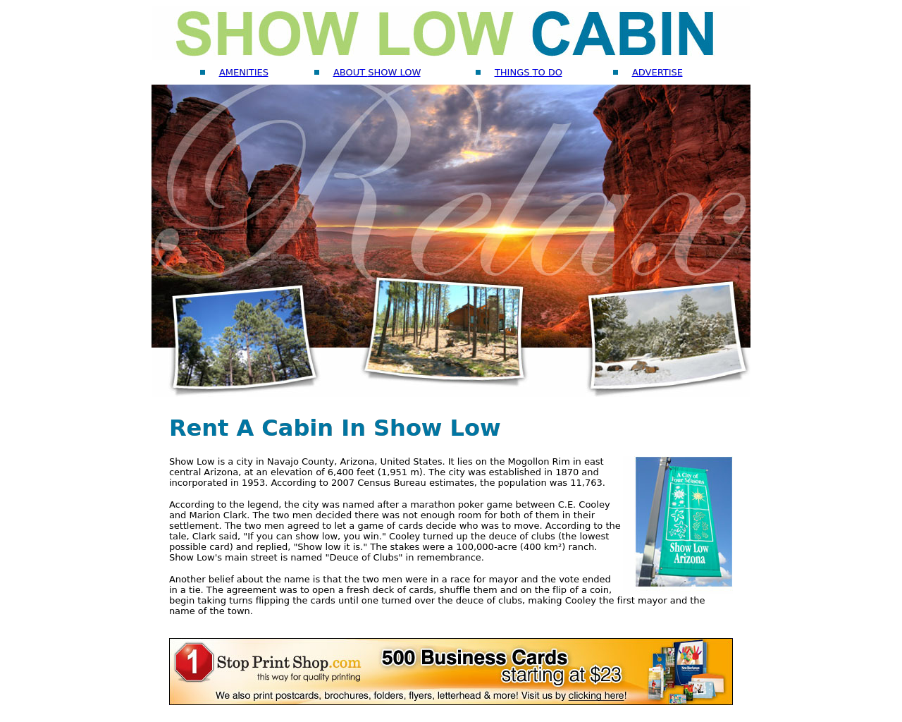 Show-Low-Cabin-Advertising-Reviews-Pricing