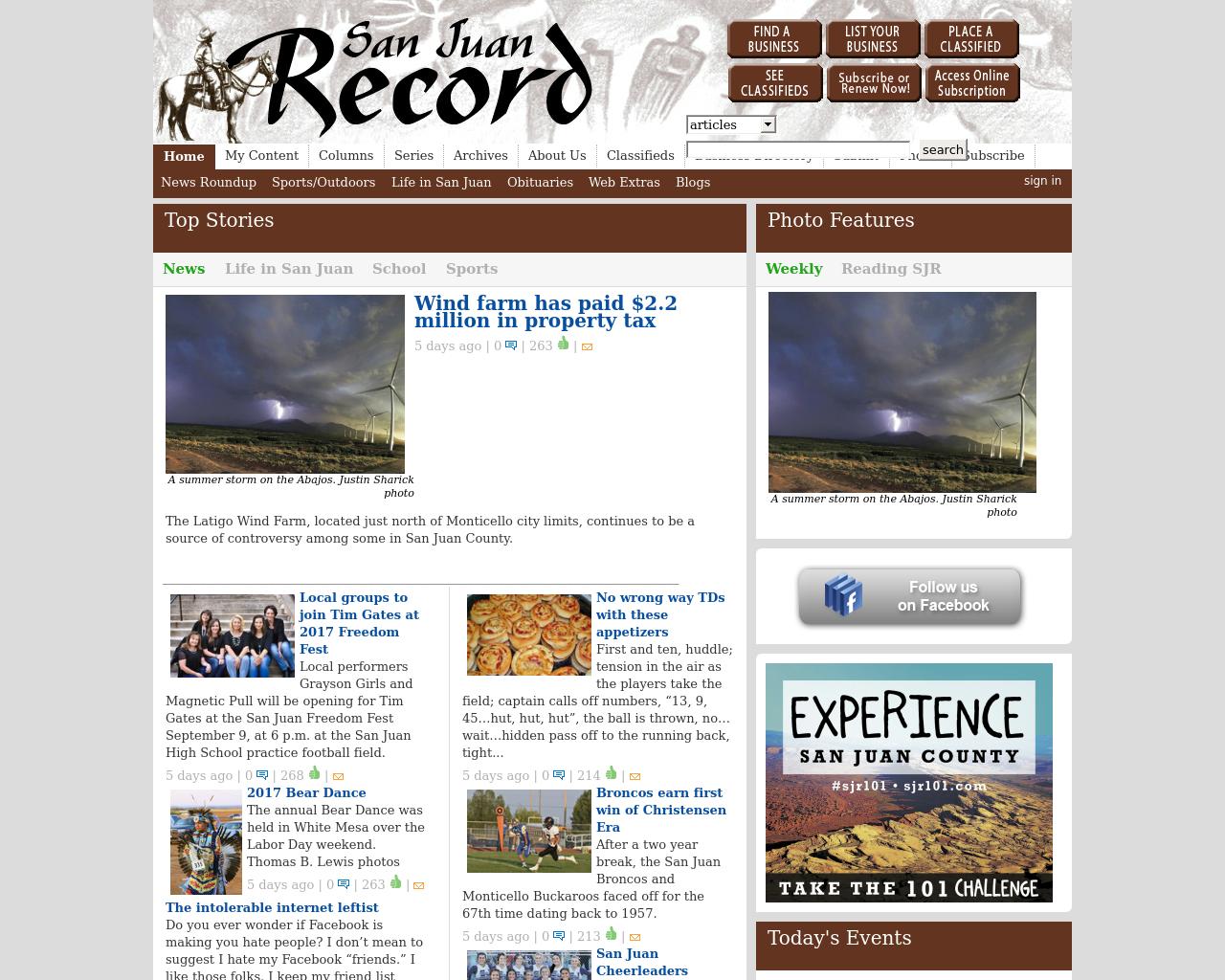 San-Juan-Record-Advertising-Reviews-Pricing