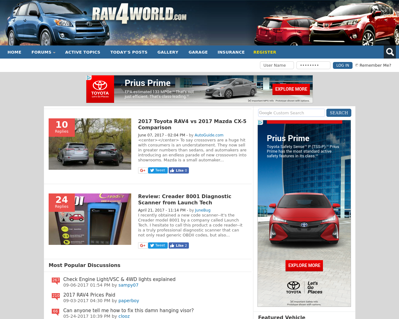 Toyota-RAV4-Forums-Advertising-Reviews-Pricing