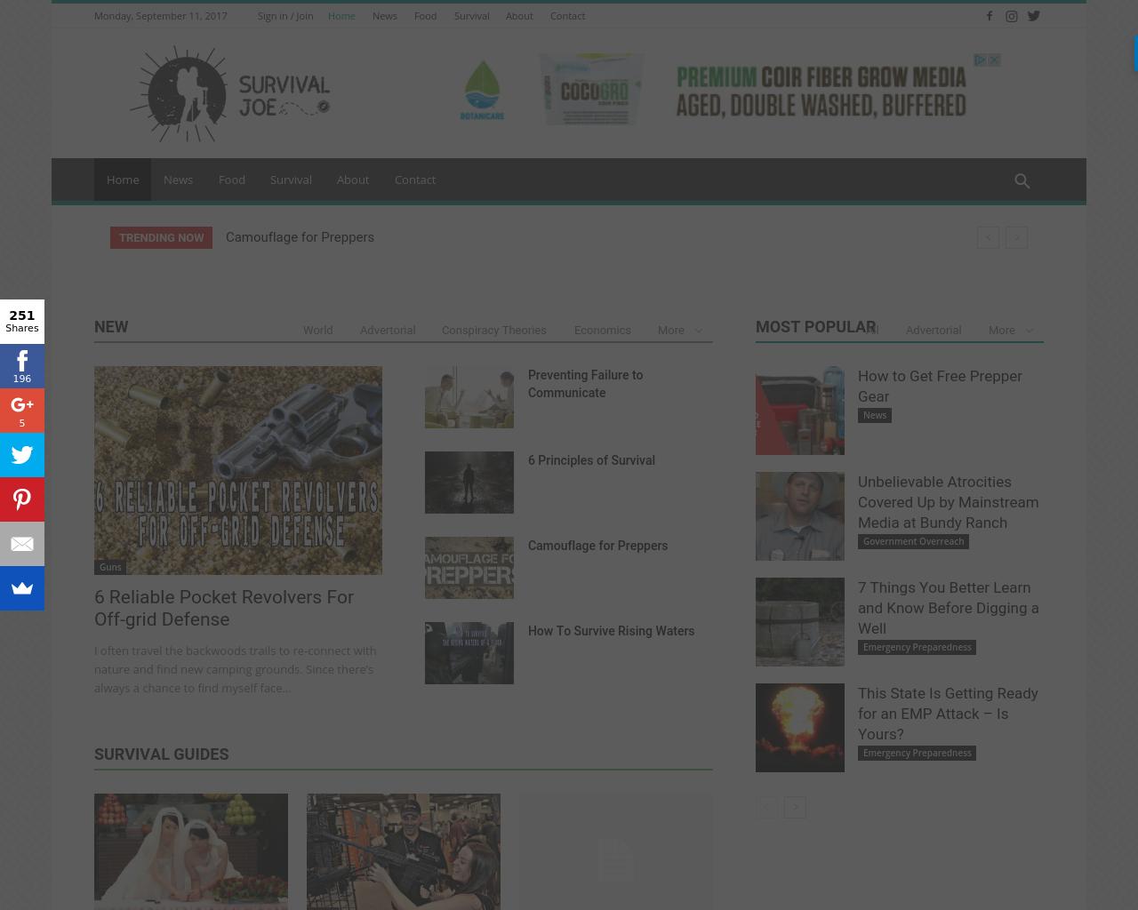 SurvivalJoe.net-Advertising-Reviews-Pricing