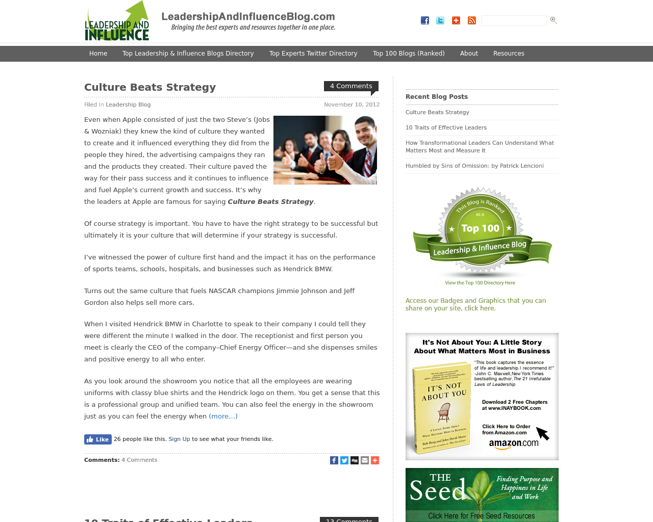 LeadershipAndInfluenceBlog.com-Advertising-Reviews-Pricing