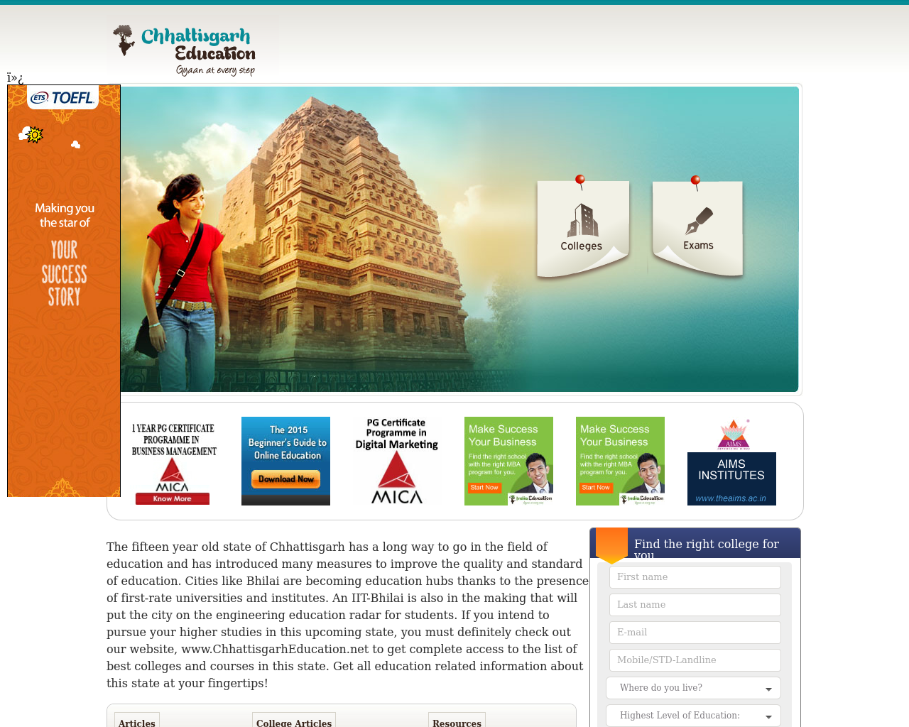 Chhattisgarh-Education-Advertising-Reviews-Pricing