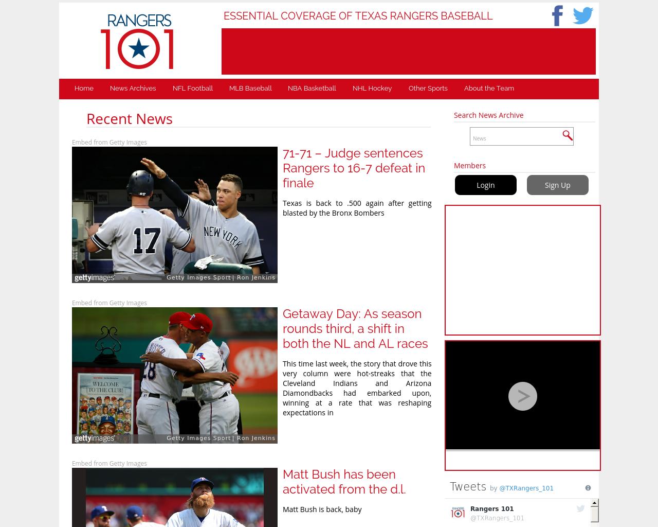 Rangers101.com-Advertising-Reviews-Pricing