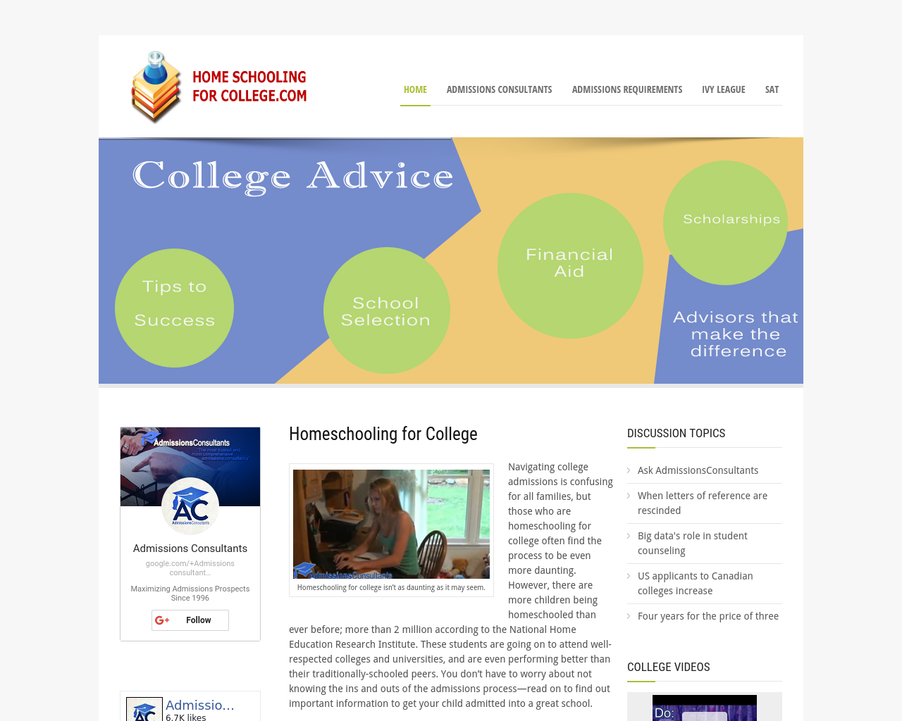 Home-Schooling-for-College.com-Advertising-Reviews-Pricing