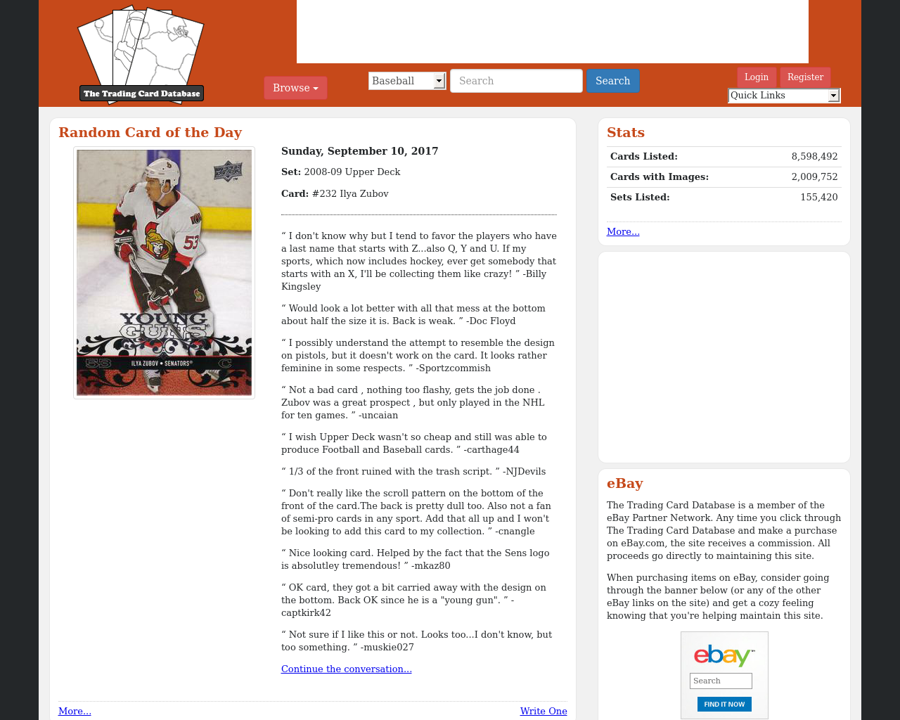 The-Trading-Card-Database-Advertising-Reviews-Pricing