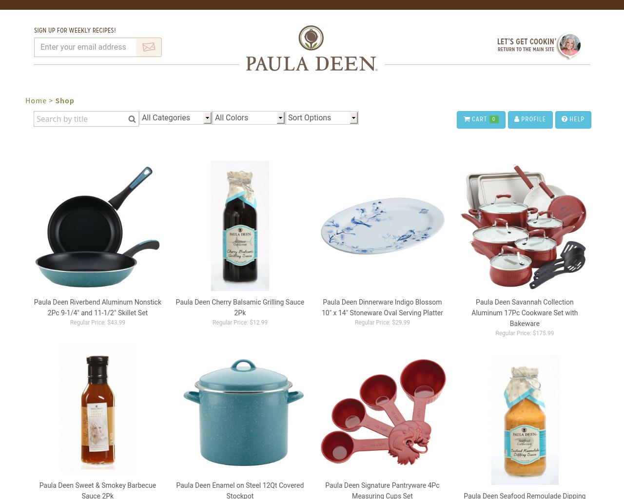 PaulaDeenStore.com-Advertising-Reviews-Pricing