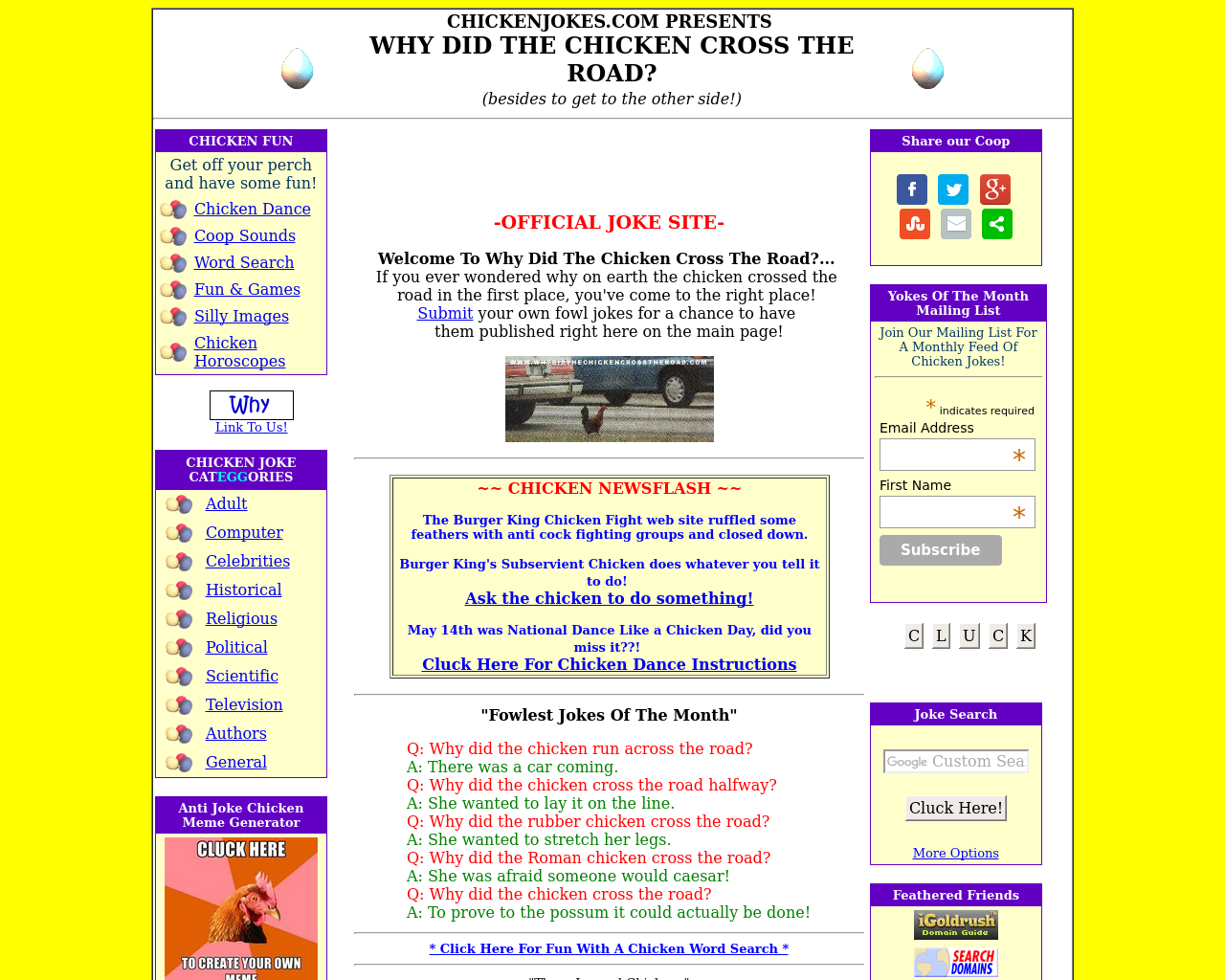 Why-Did-Chicken-Cross-The-Roads?-Advertising-Reviews-Pricing