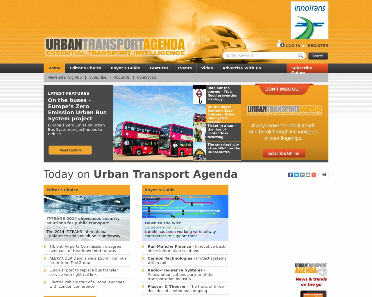 Urban-Transport-Agenda-Advertising-Reviews-Pricing