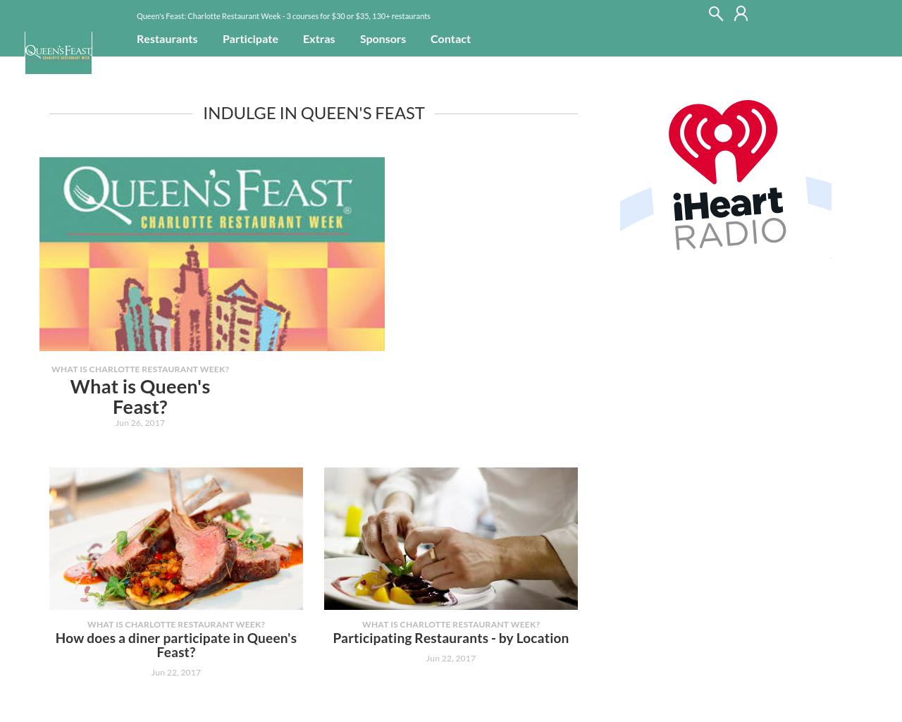 Queen's-Feast-Charlotte-Restaurant-Week-Advertising-Reviews-Pricing