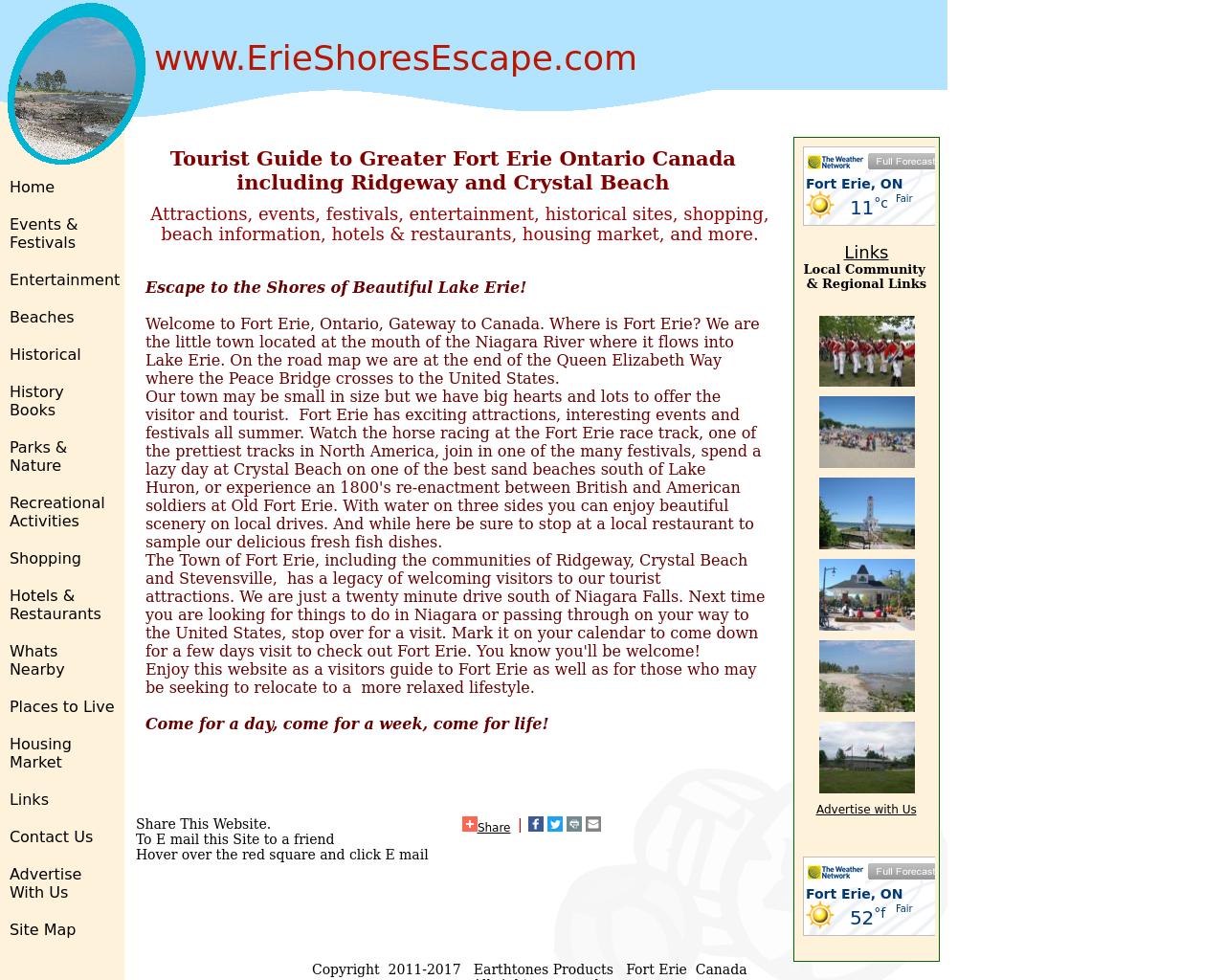 www.ErieShoresEscape.com-Advertising-Reviews-Pricing