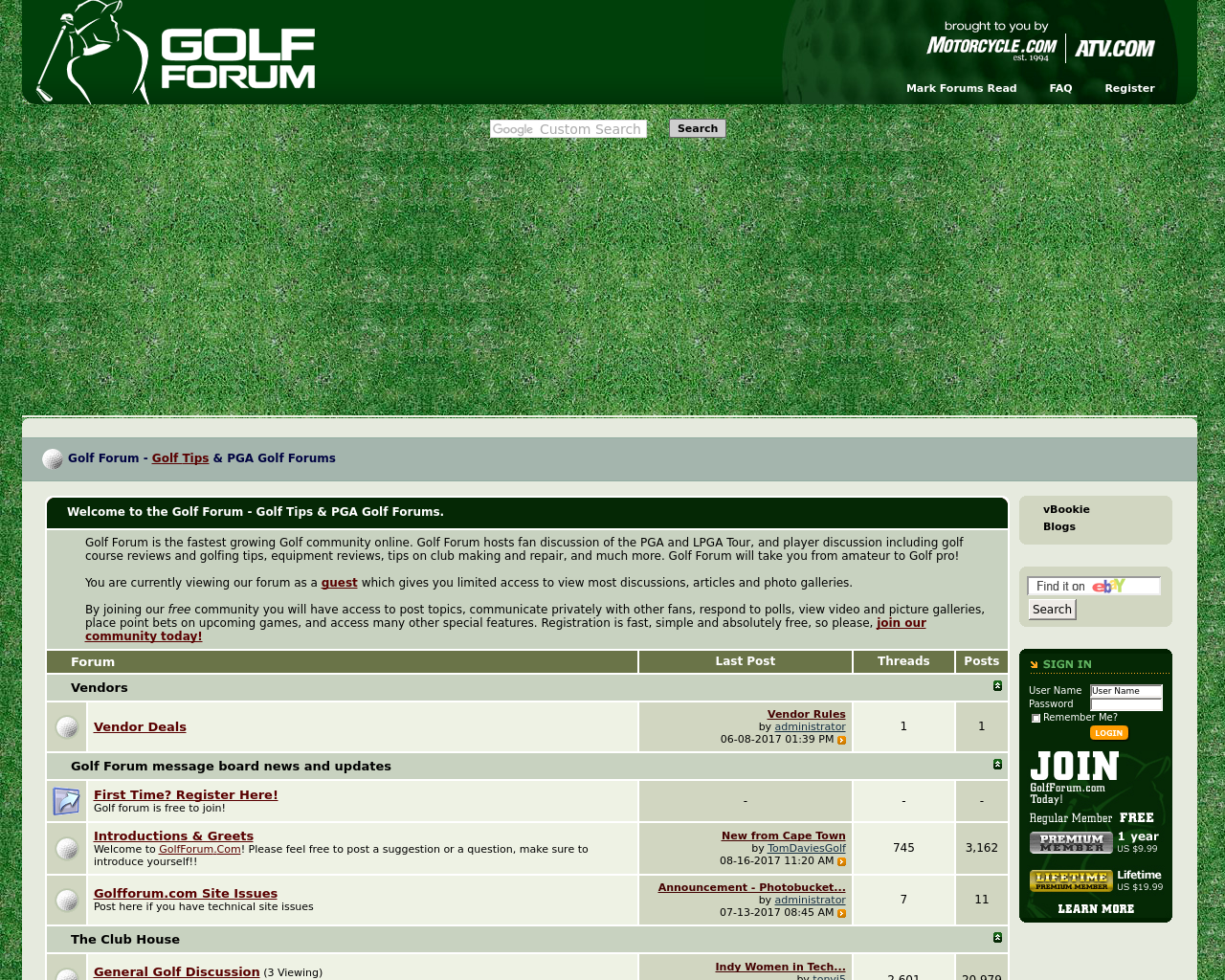 Golf-Forum-Advertising-Reviews-Pricing