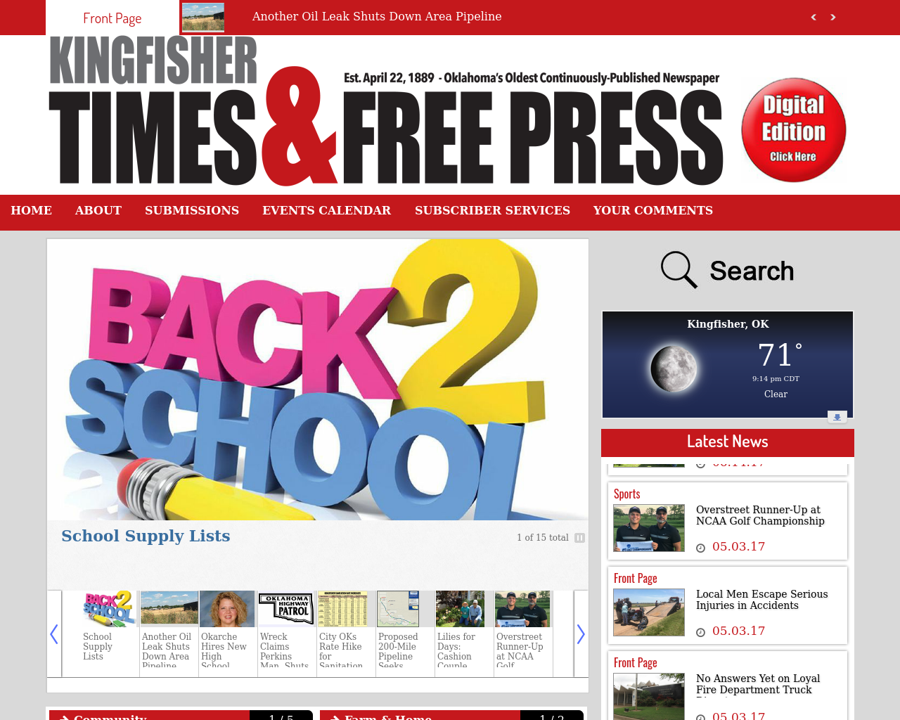 The-Kingfisher-Times-&-Free-Press-Online-Advertising-Reviews-Pricing