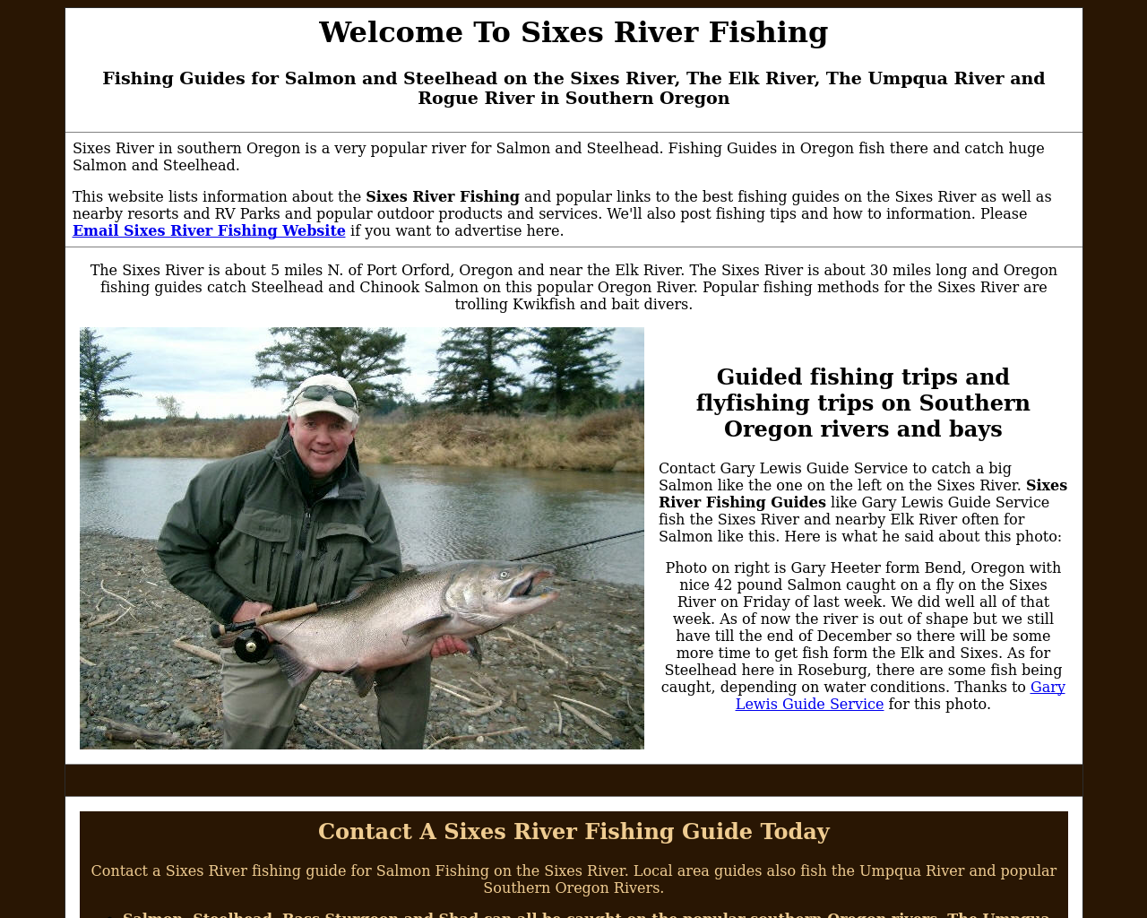 Sixes-river-fishing-Advertising-Reviews-Pricing