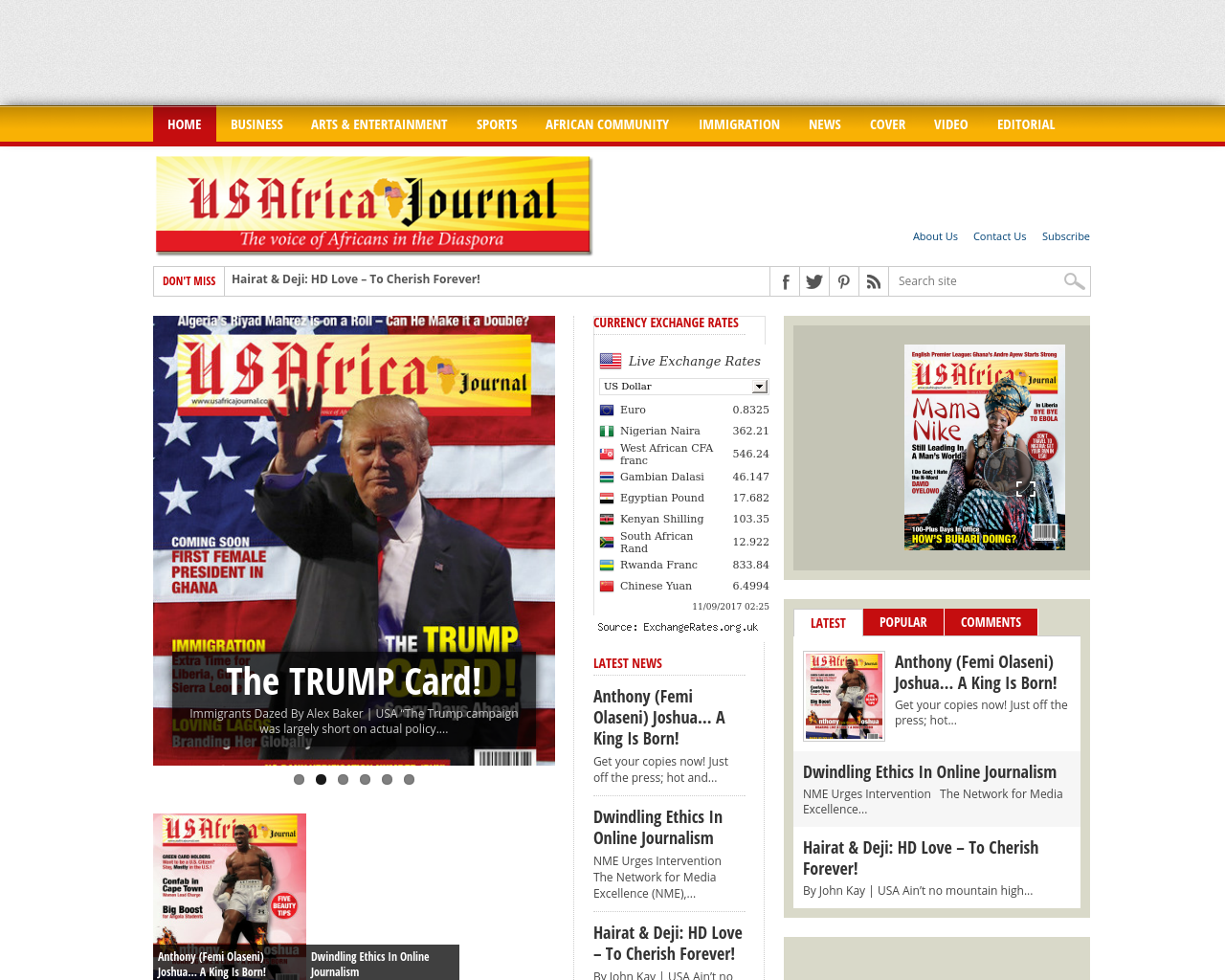 USAfrica-Journal-Advertising-Reviews-Pricing