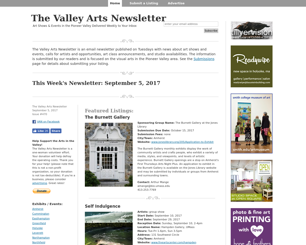 The-Valley-Arts-Newsletter-Advertising-Reviews-Pricing