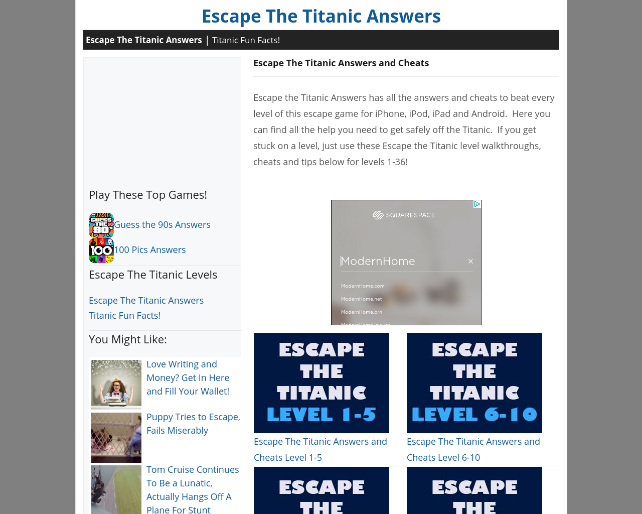 Escape-The-Titanic-Answers-Advertising-Reviews-Pricing