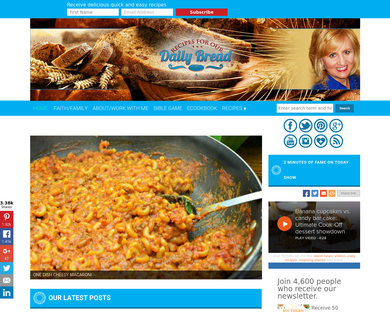 RECIPES-For-Our-DAILY-BREAD-Advertising-Reviews-Pricing