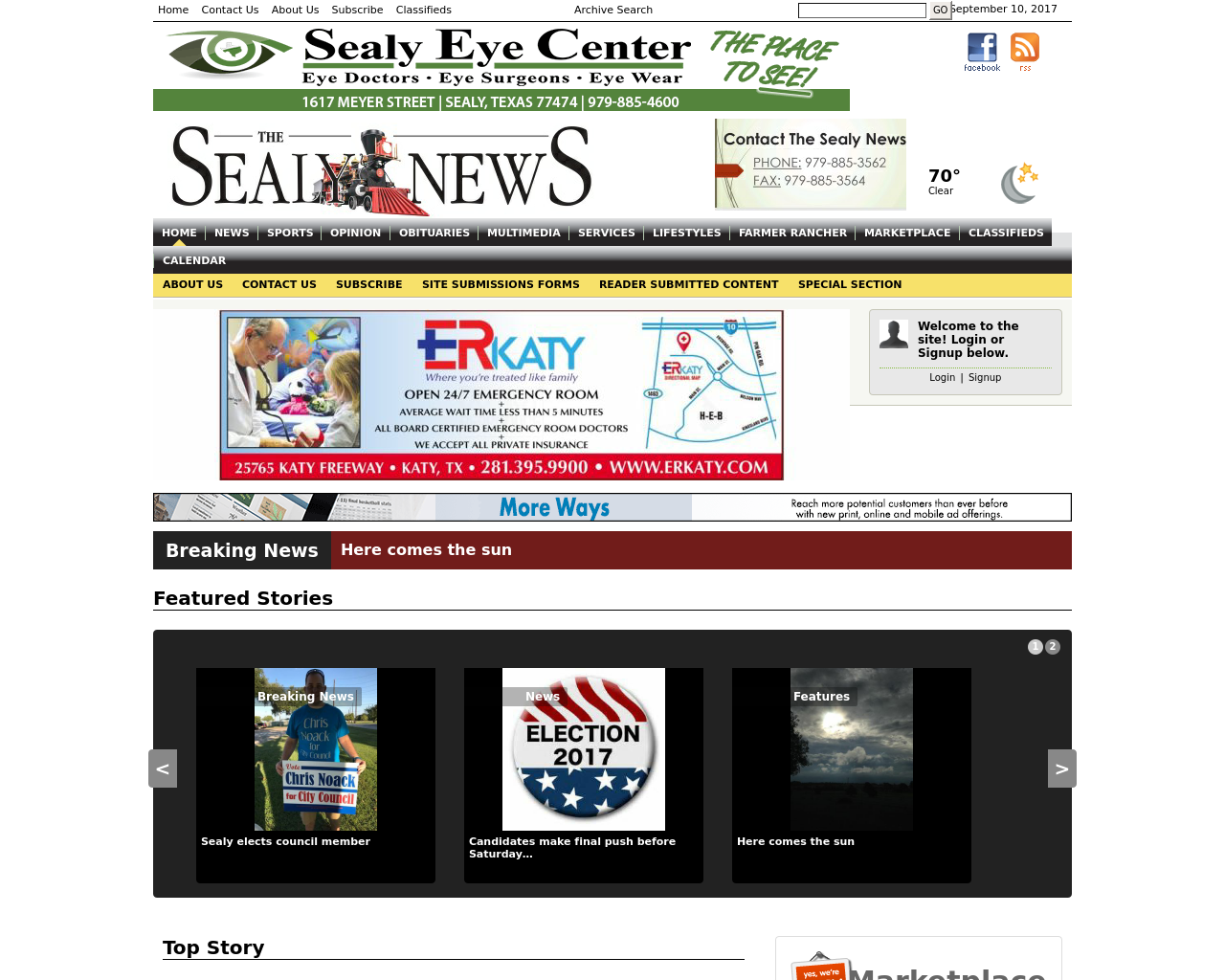 The-Sealy-News-Advertising-Reviews-Pricing