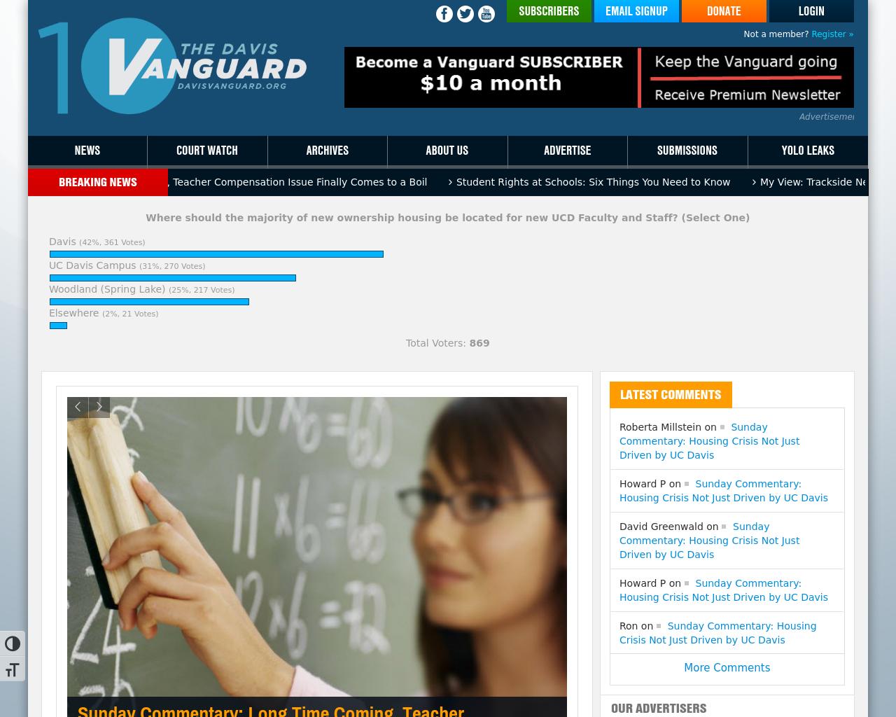 DavisVanguard.org-Advertising-Reviews-Pricing