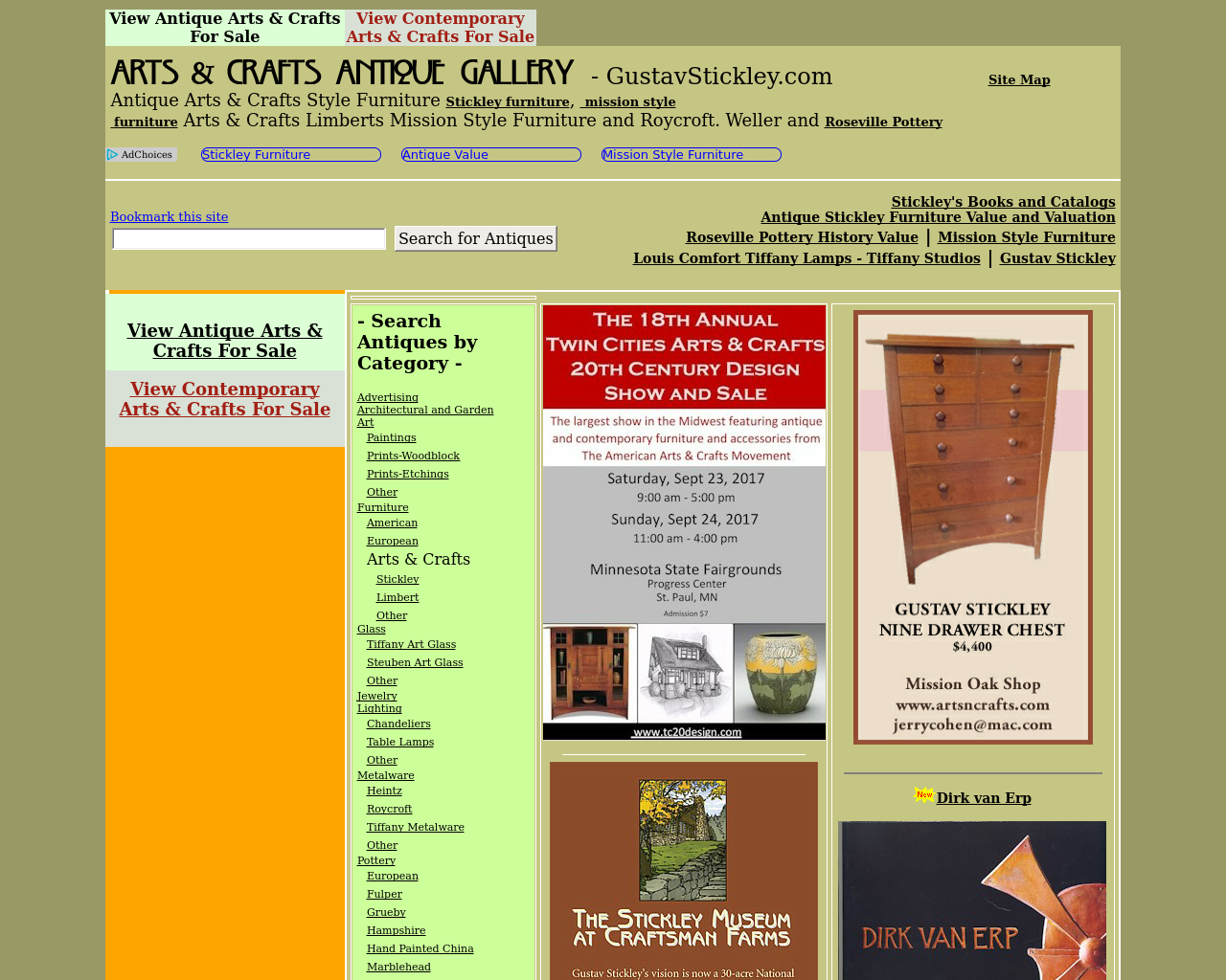 Arts-&-Crafts-Antique-Gallery-Advertising-Reviews-Pricing