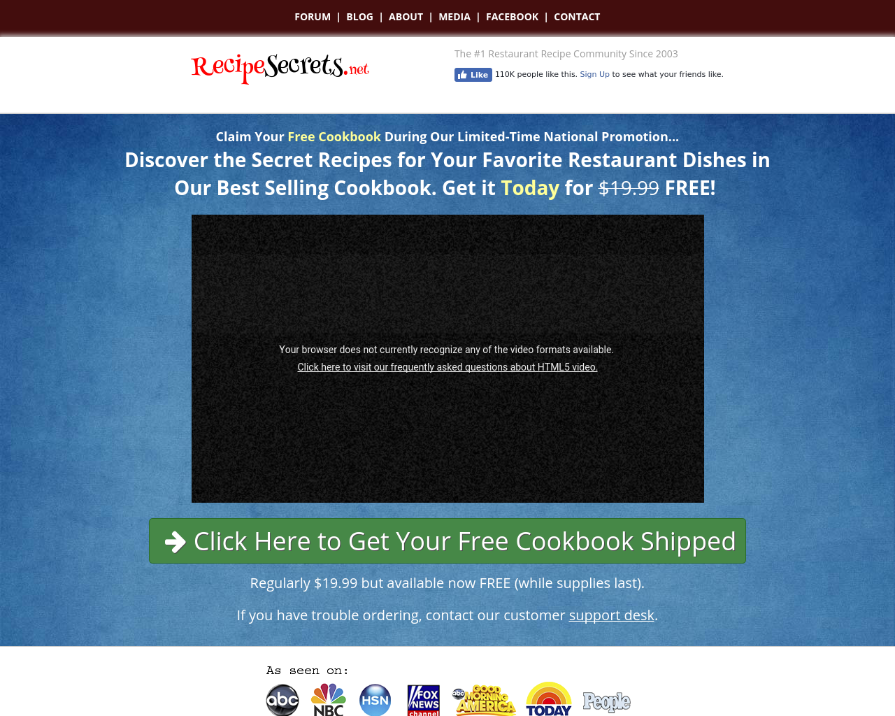 RecipeSecrets.net-Advertising-Reviews-Pricing