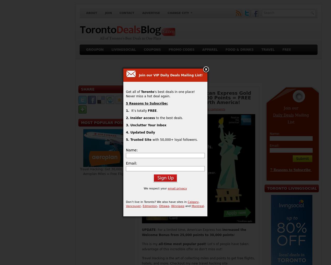 TorontoDealsBlog.com-Advertising-Reviews-Pricing