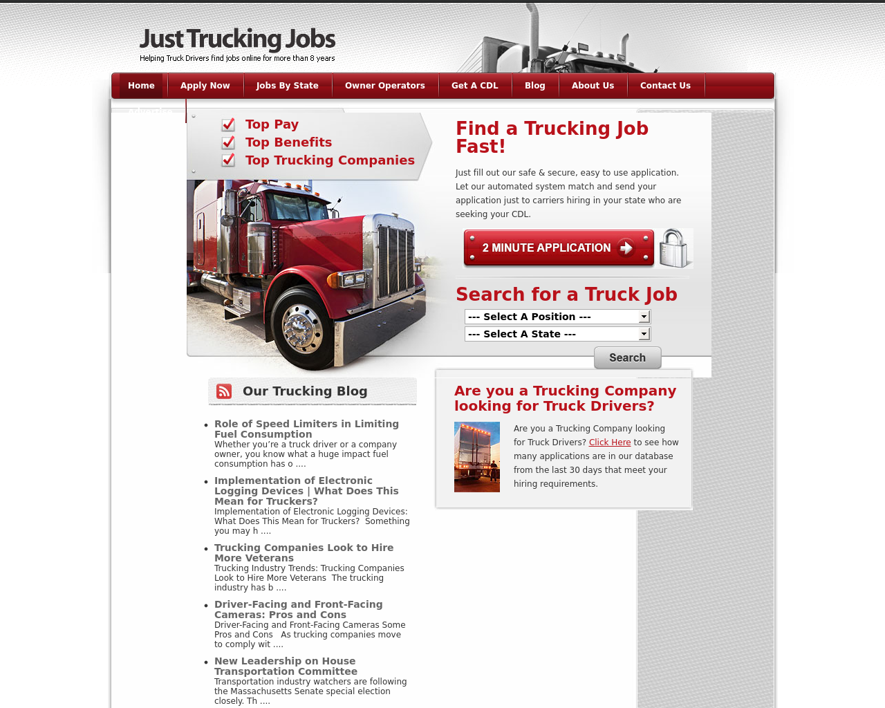 Just-Trucking-Jobs-Advertising-Reviews-Pricing