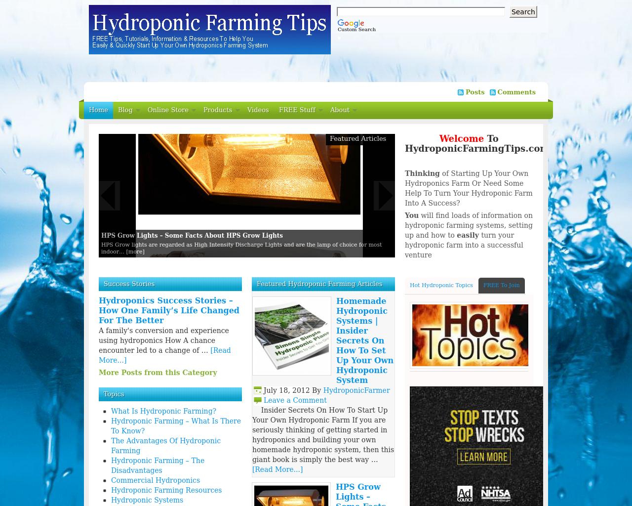 Hydroponicfarmingtips.com-Advertising-Reviews-Pricing