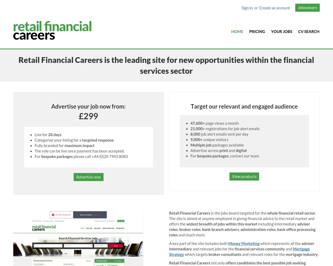 Retail-Financial-Careers-Advertising-Reviews-Pricing