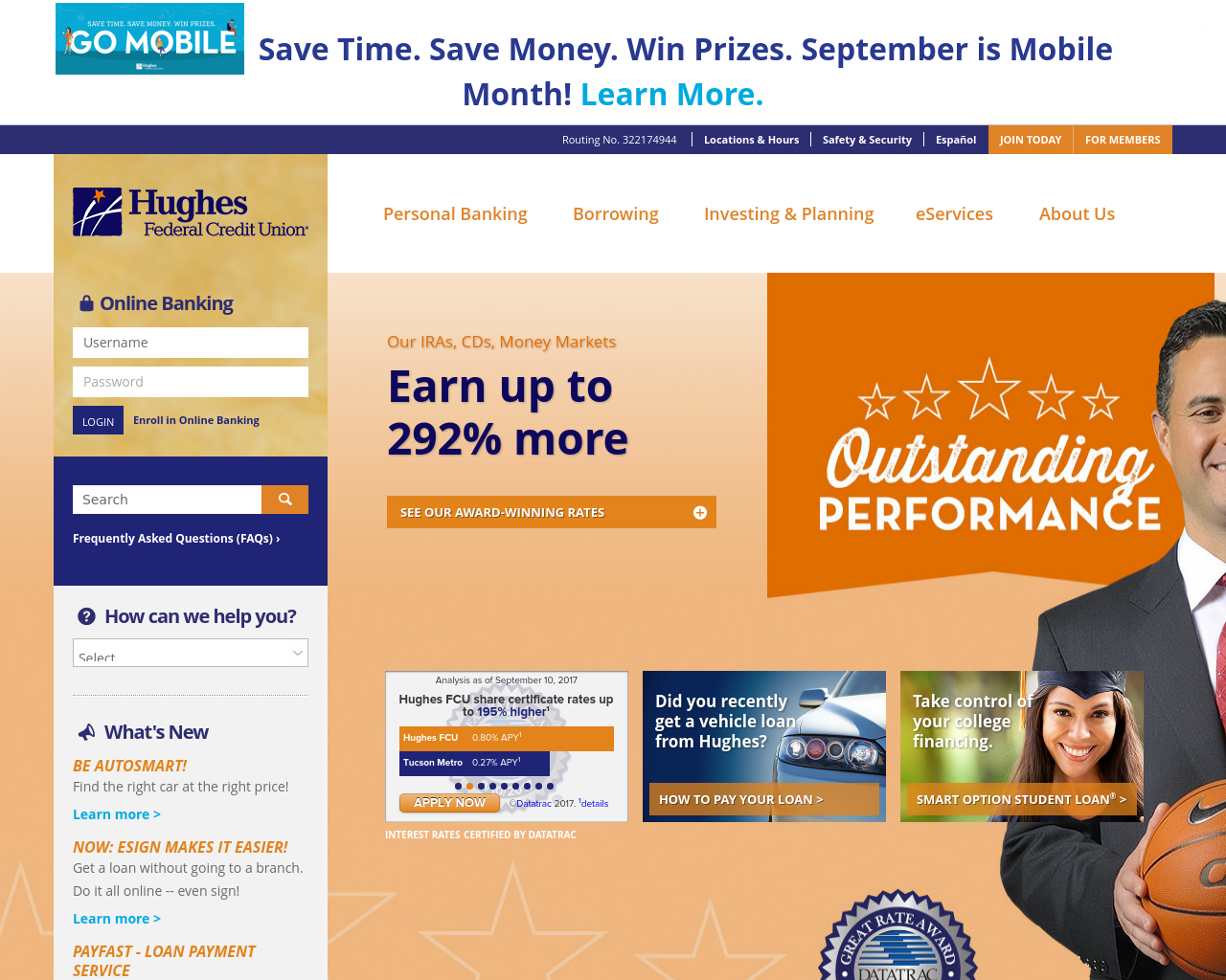 Hughes-Federal-Credit-Union-Advertising-Reviews-Pricing