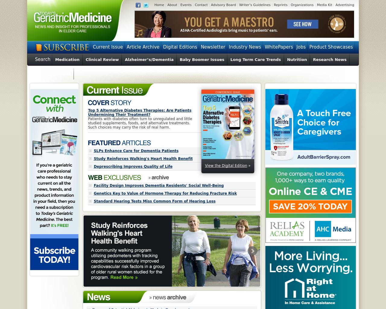 Today's-Geriatric-Medicine-Advertising-Reviews-Pricing