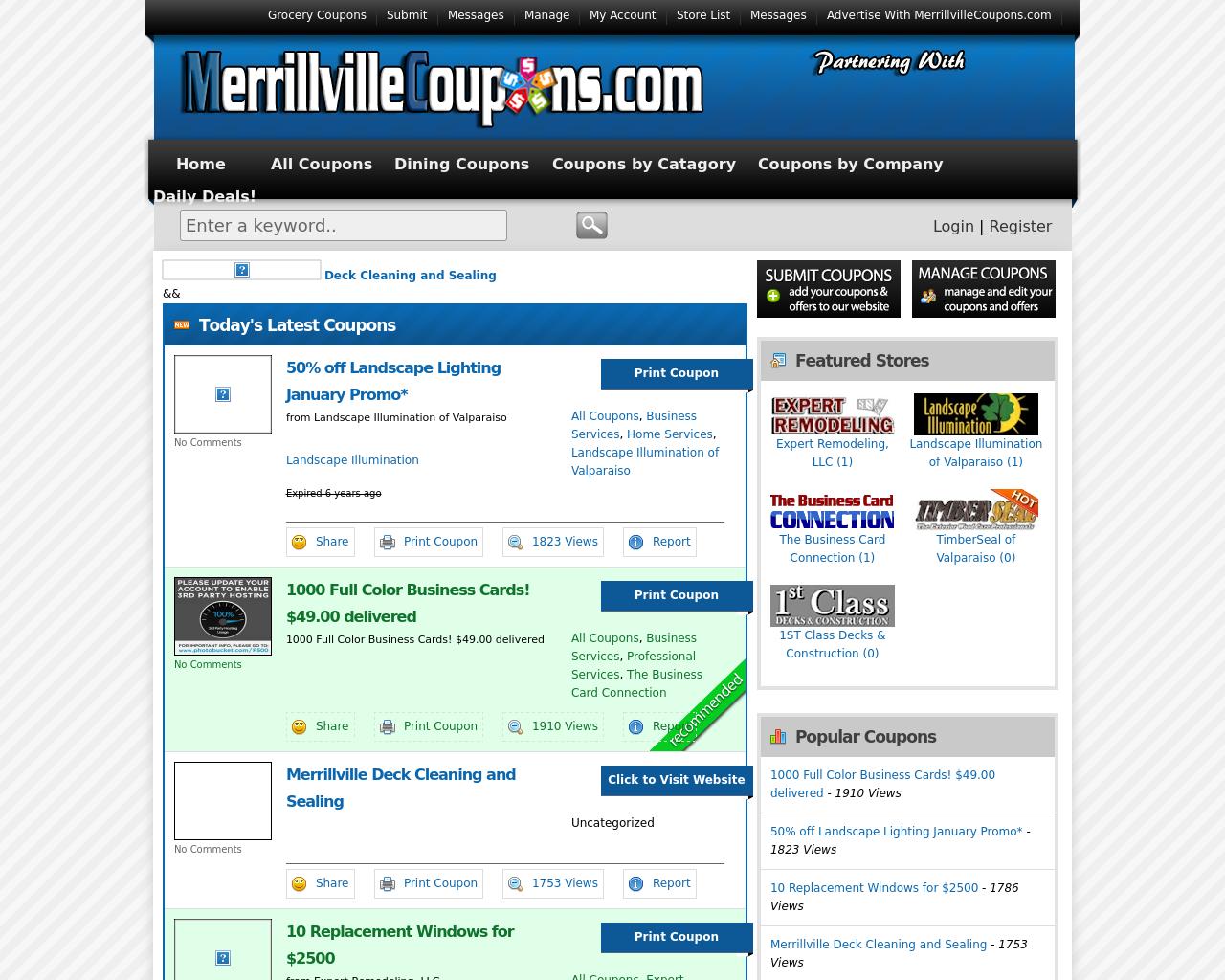 MerrillvilleCoupons.com-Advertising-Reviews-Pricing