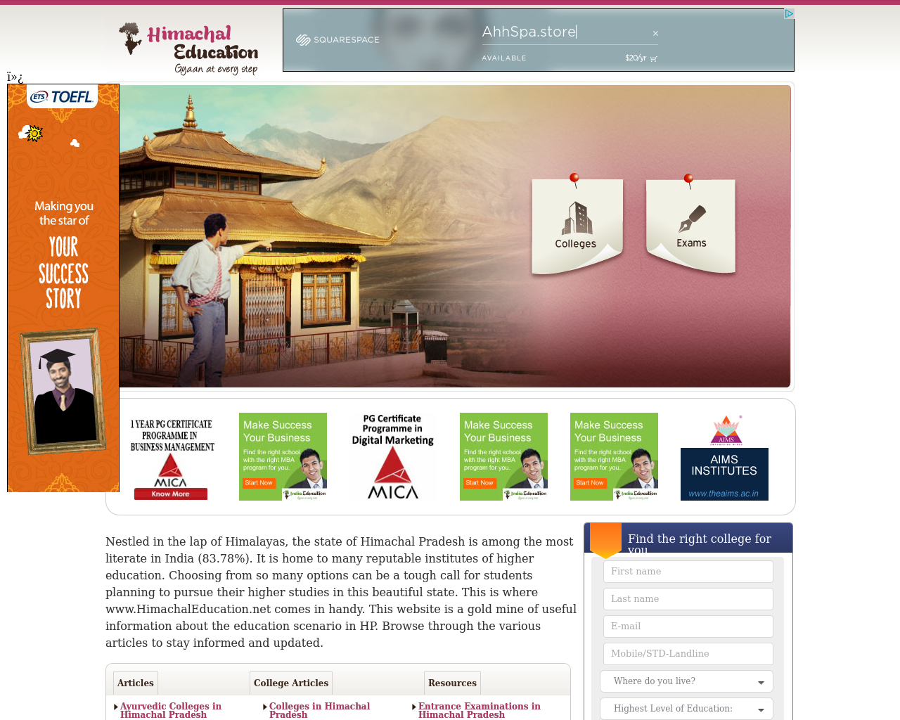 Himachal-Education-Advertising-Reviews-Pricing