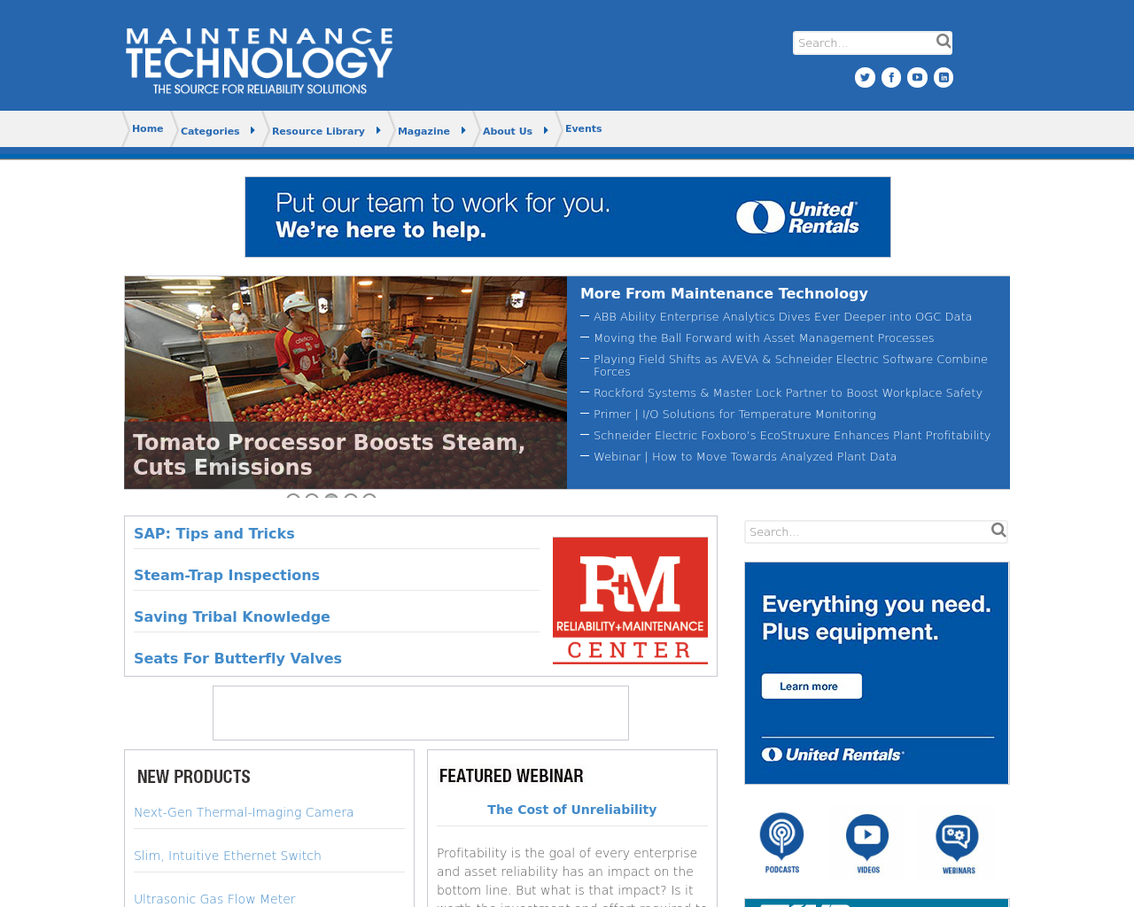 MAINTENANCE-TECHNOLOGY-The-Source-For-Reliability-Solutions-Advertising-Reviews-Pricing