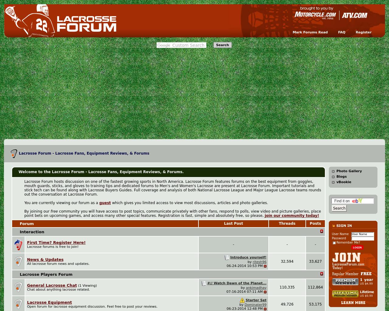 Lacrosse-Forum-Advertising-Reviews-Pricing